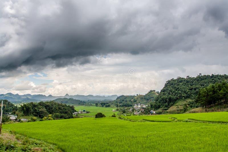 Montagne chez le Vietnam du Nord images libres de droits