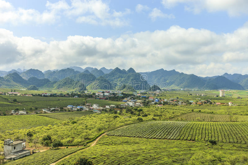 Montagne chez le Vietnam du Nord image stock