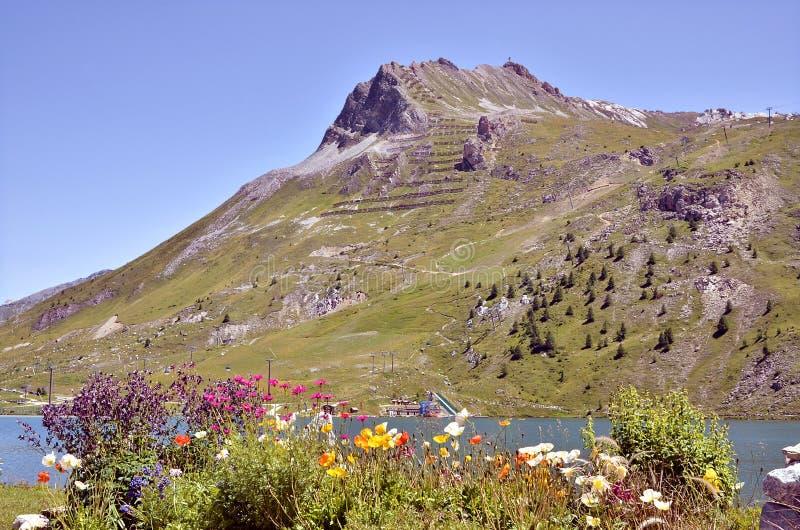 Montagne chez Tignes dans les Frances image libre de droits