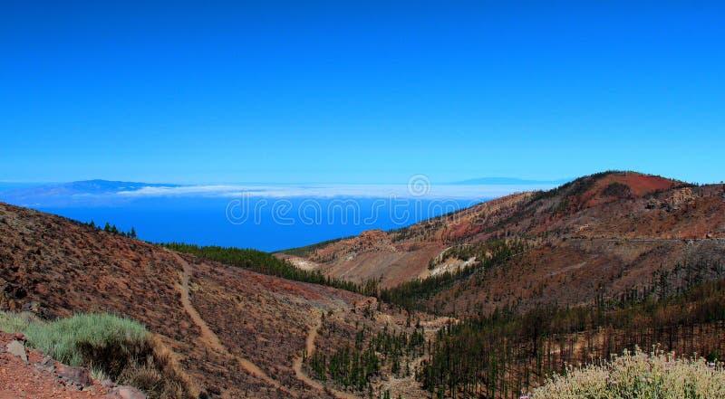 Montagne, ciel bleu, belle vue, Ténérife photo libre de droits