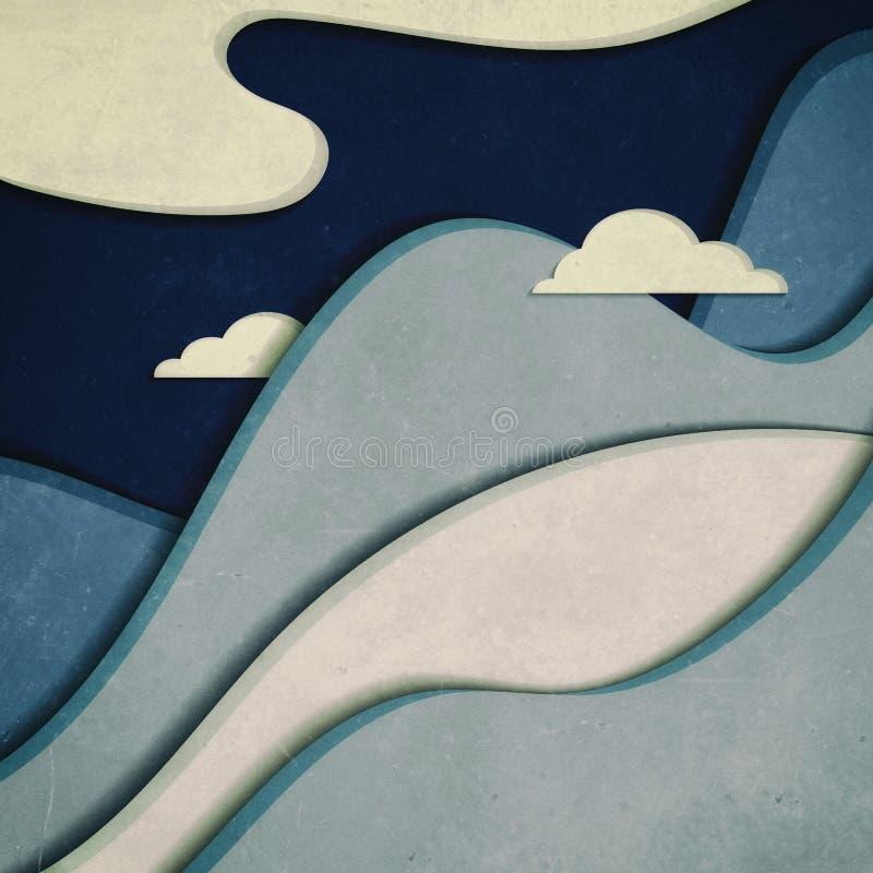 Montagne con le nubi immagini stock