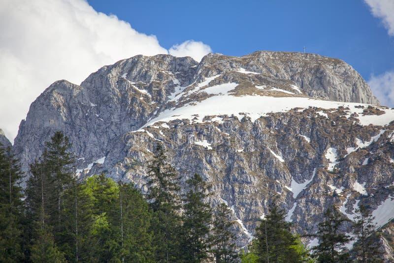 Montagne couverte par la neige photographie stock