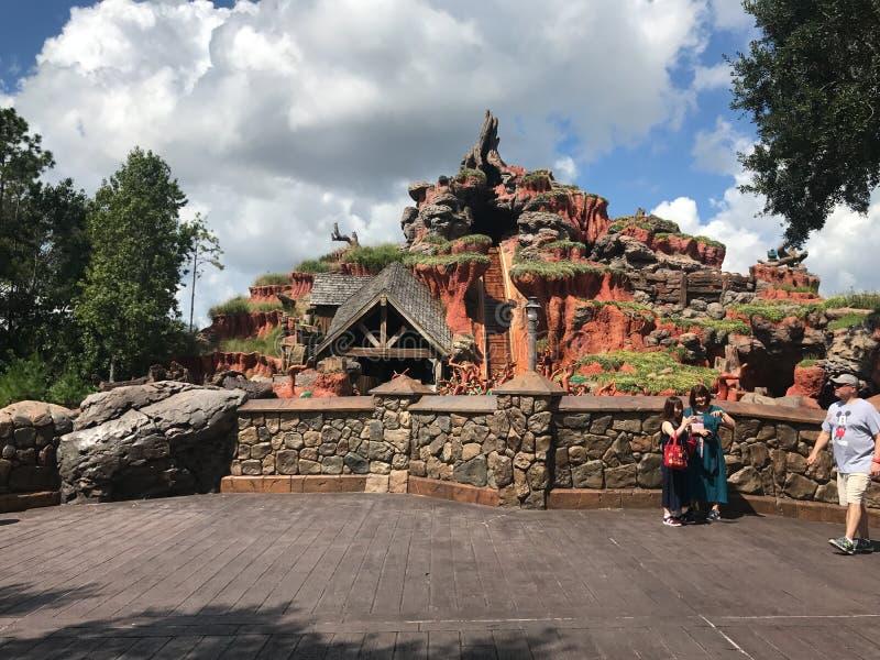 Montagne d'éclaboussure chez Walt Disney World images stock