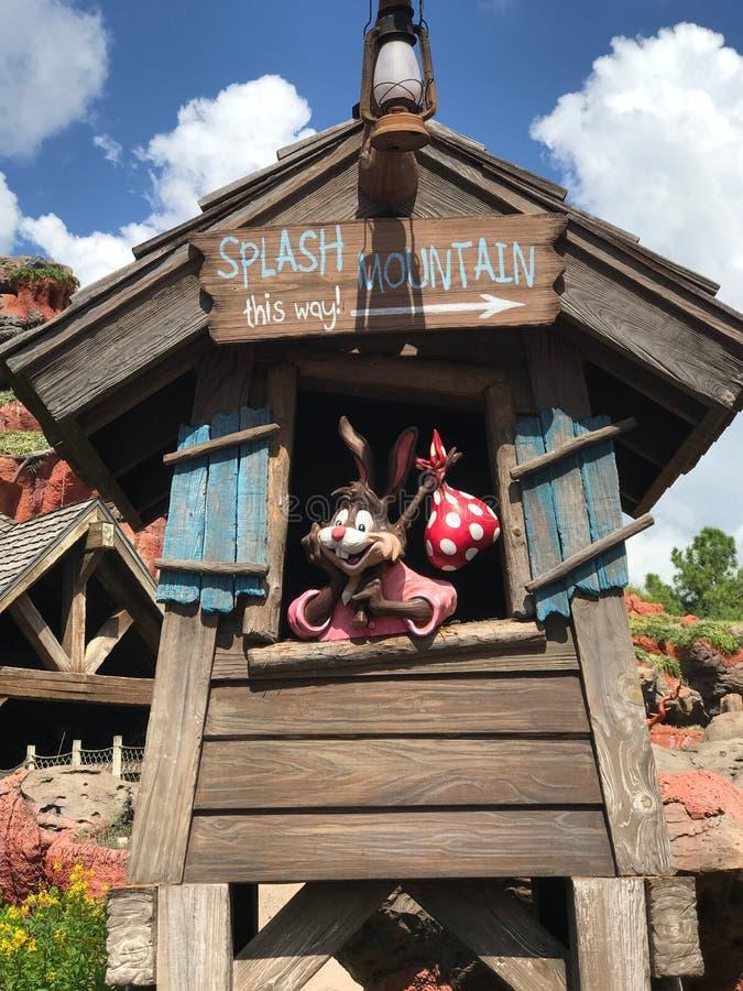 Montagne d'éclaboussure chez Walt Disney World photos stock