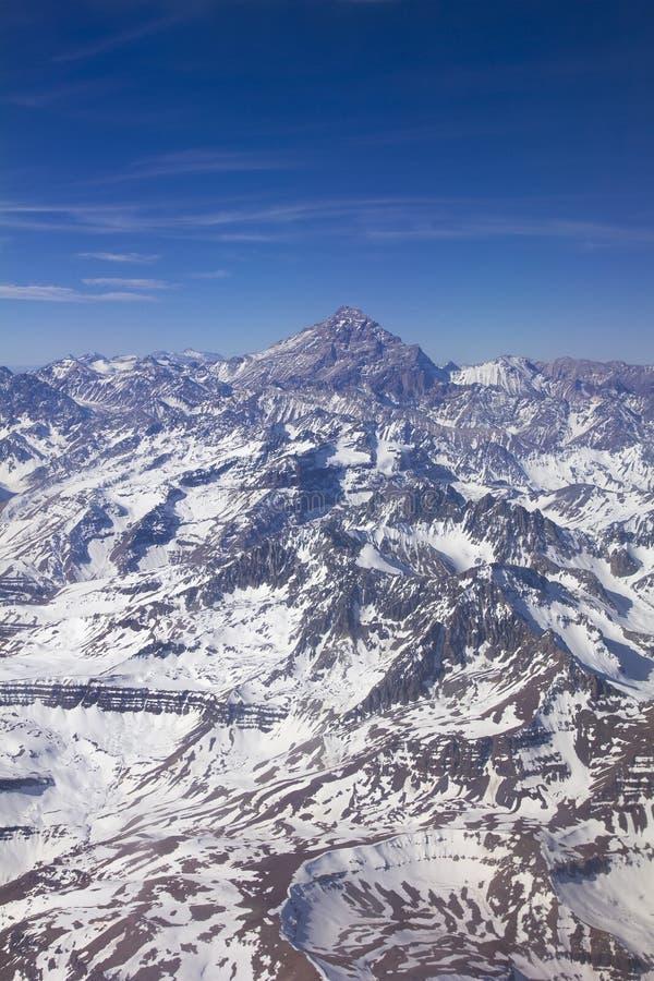 Montagne d'Aconcagua, les Andes photographie stock libre de droits
