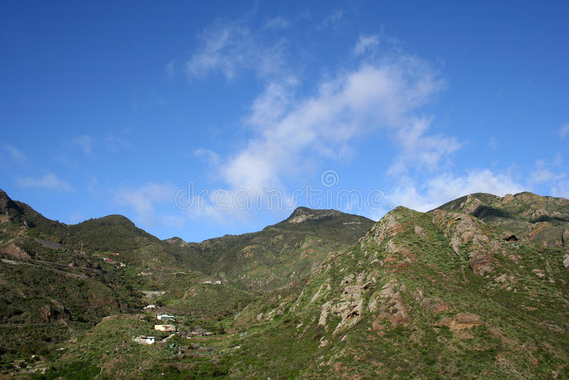 Montagne d'Anaga dans Tenerife image stock