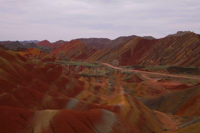 Montagne d'arc-en-ciel dans Zhangye, Chine images libres de droits
