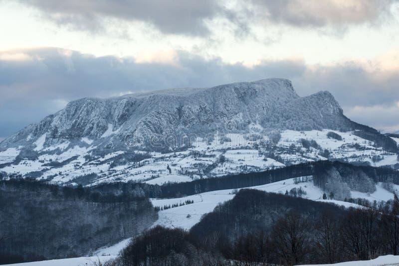 Montagne d'hiver photo libre de droits