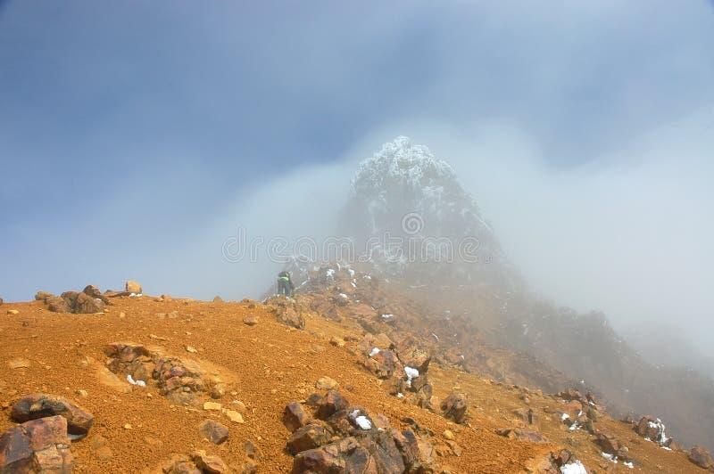 Montagne d'Illiniza Norte, Equateur les Andes. photo stock