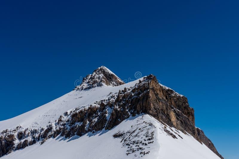 Montagne d'Oldenhorn en Suisse photo libre de droits