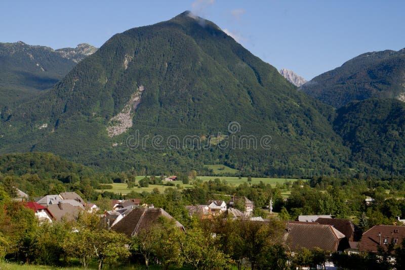 Montagne dans Bovec photographie stock libre de droits