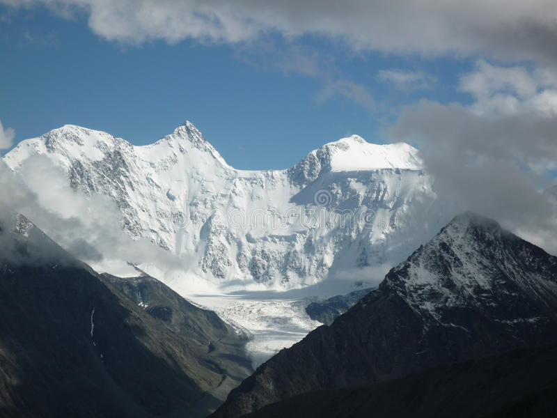 Montagne de Belukha, Altai images stock