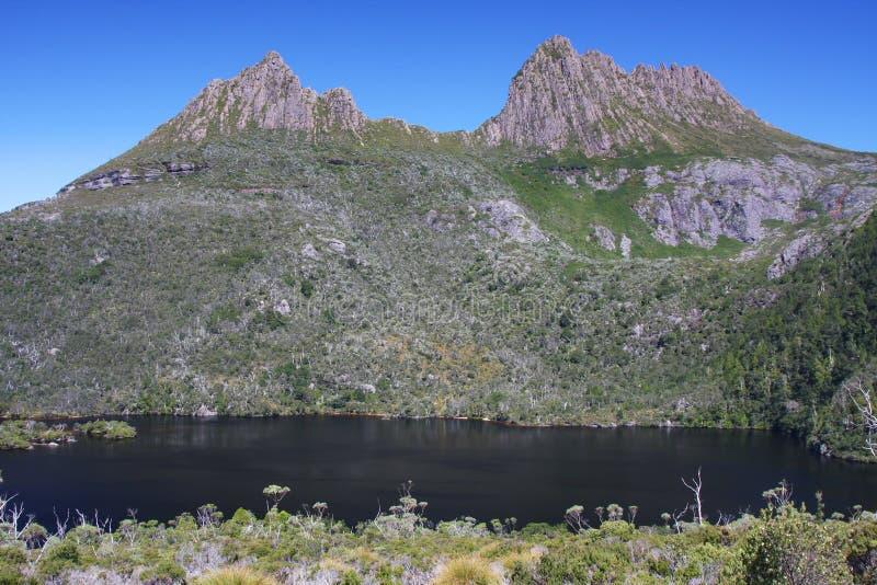Montagne de berceau en Tasmanie, Australie image stock