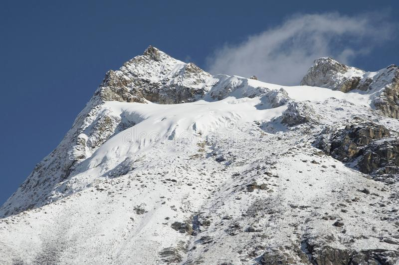 Montagne de Blanca de Cordillère image stock