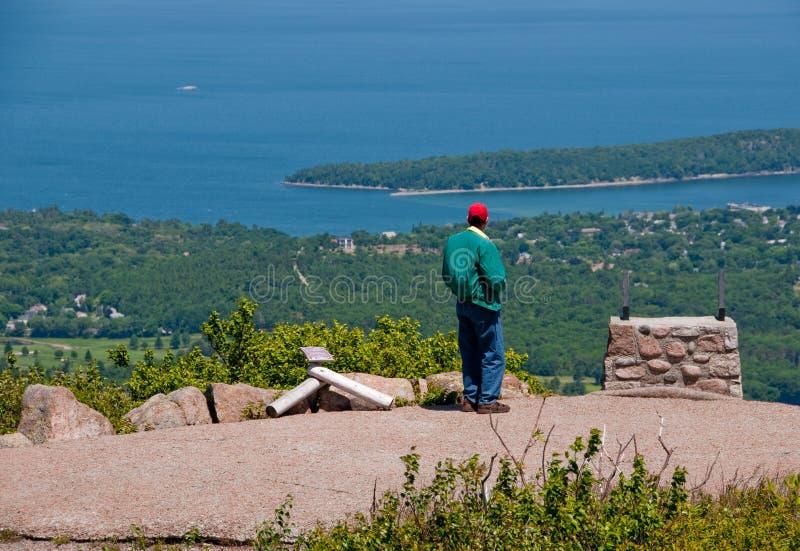 Montagne de Cadillac, Maine, Etats-Unis images libres de droits
