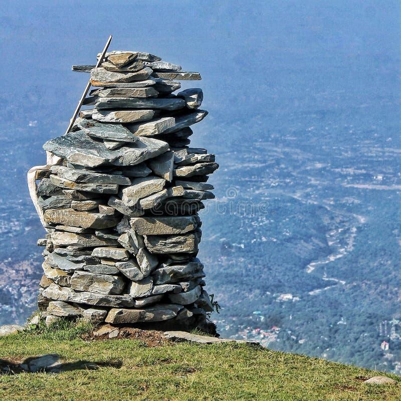 Montagne de cailloux dans Dharamshala photos libres de droits