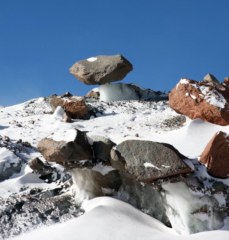 Montagne de champignon de glace photo stock