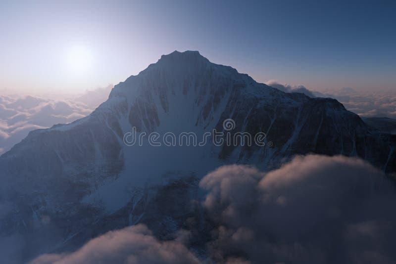 Montagne de coucher du soleil images stock