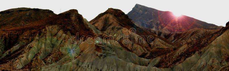Montagne de désert photographie stock