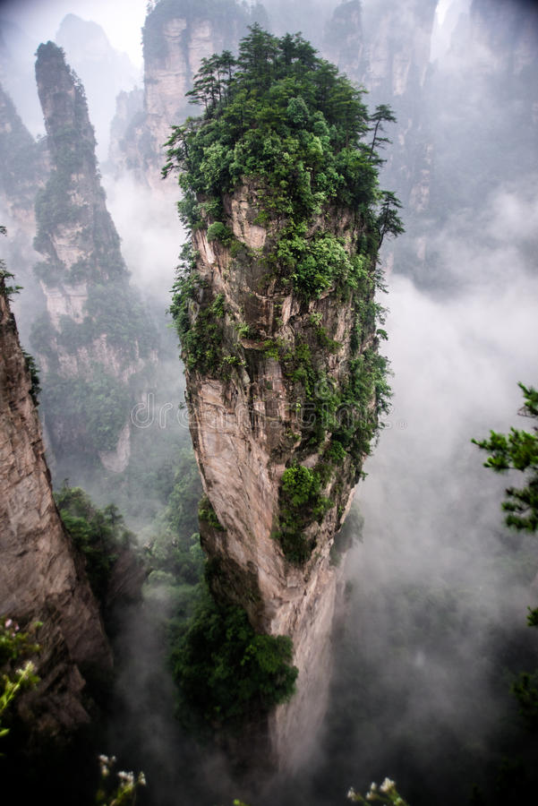Montagne de doigt (île de flottement) image libre de droits