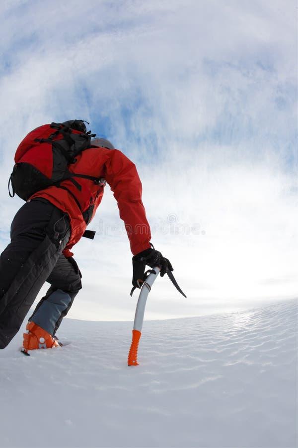 montagne de grimpeur photo libre de droits