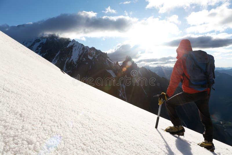 montagne de grimpeur image libre de droits