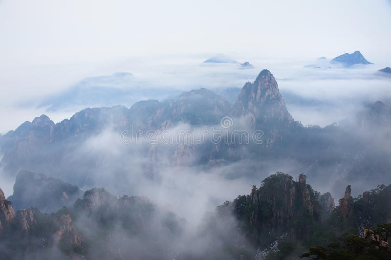 Montagne de Huangshan images stock