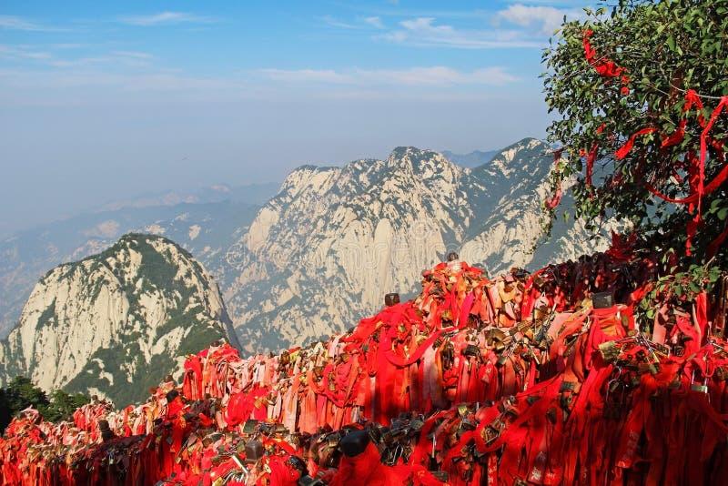 Montagne de Huashan, Xian, Chine photographie stock libre de droits