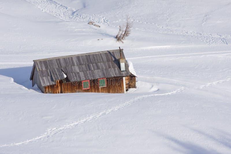 montagne de hutte photographie stock