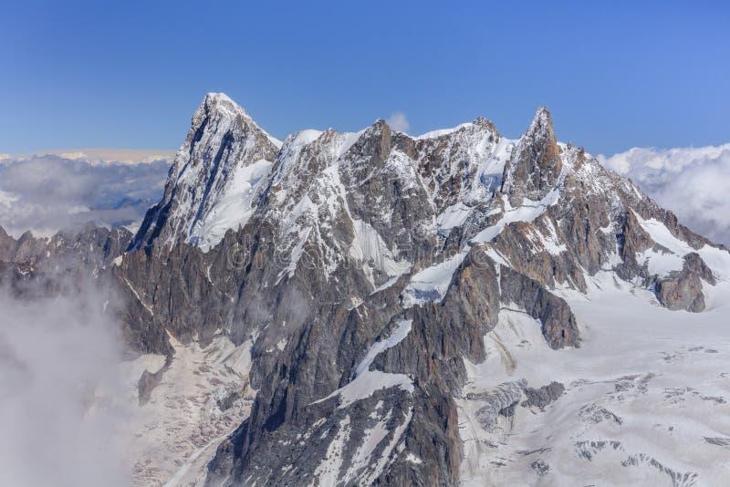 Montagne de Jorasses de Grands photo libre de droits