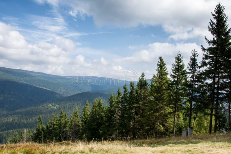 Montagne de Krkonose près de Harrachov, République Tchèque image libre de droits