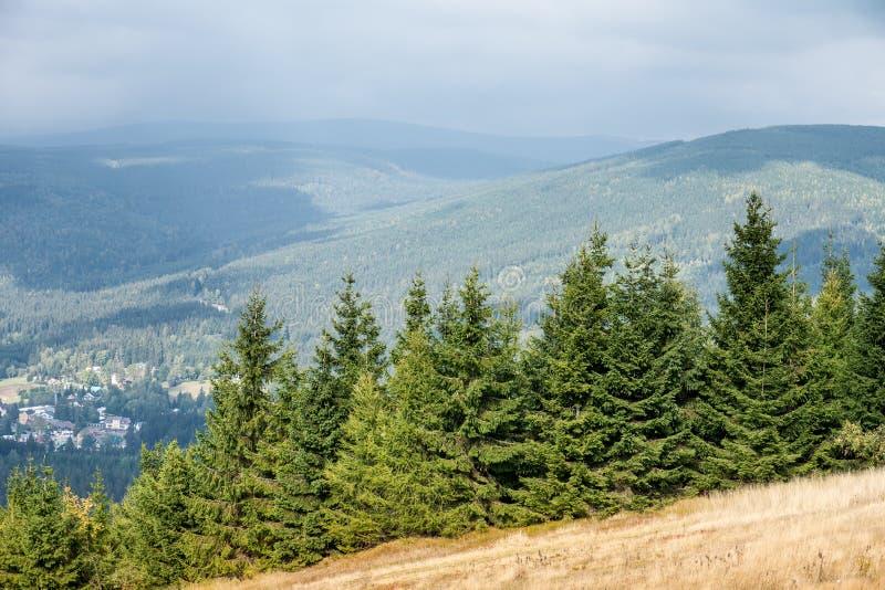 Montagne de Krkonose près de Harrachov, République Tchèque photographie stock