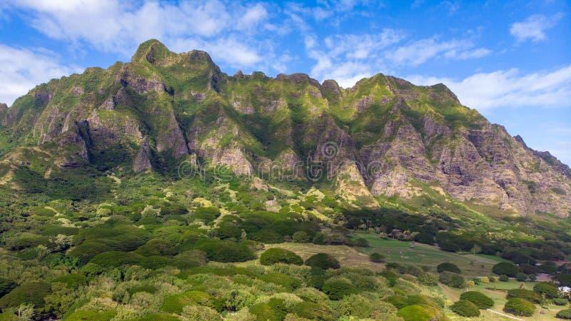 Montagne de Kualoa photo libre de droits