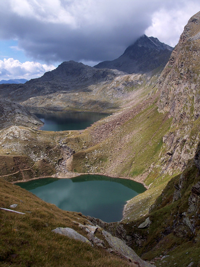 montagne de lacs photo stock