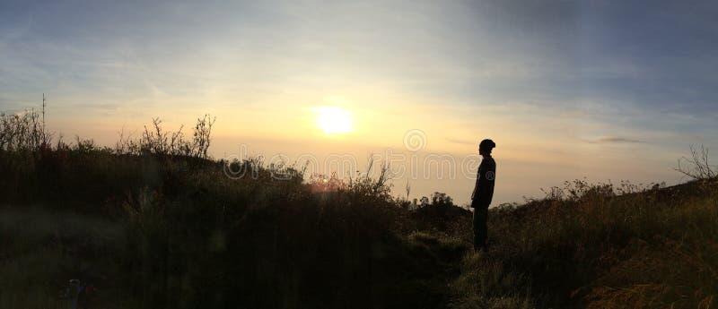 Montagne de Lawu images libres de droits