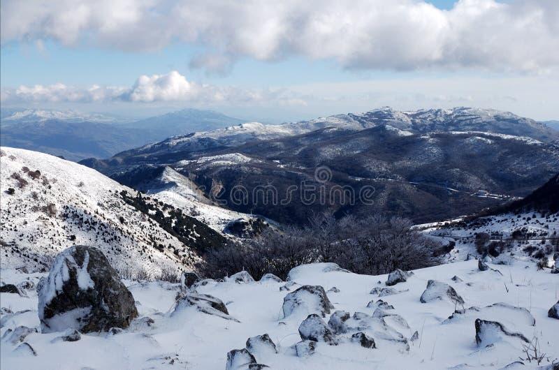 Montagne de Madonie en hiver photo stock