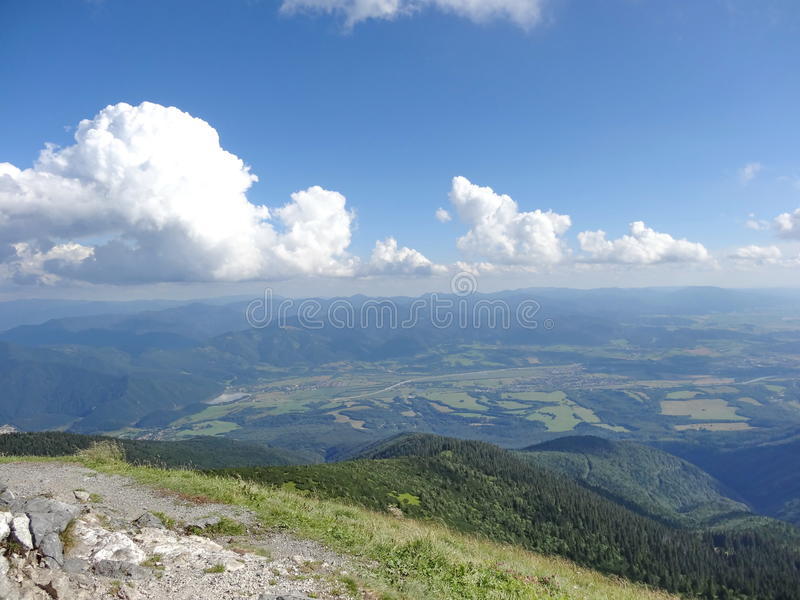 Montagne de Mala Fatra, Slovaquie, l'Europe photo stock