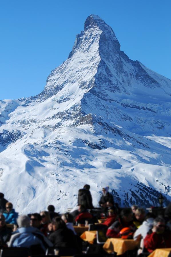 montagne de matterhorn images libres de droits