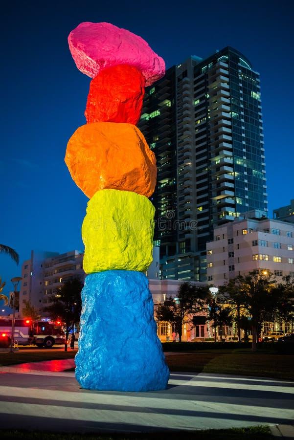 Montagne de Miami dans Miami Beach images stock