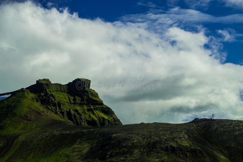 Montagne de Midfell en parc national de Snaefellsjokull images libres de droits