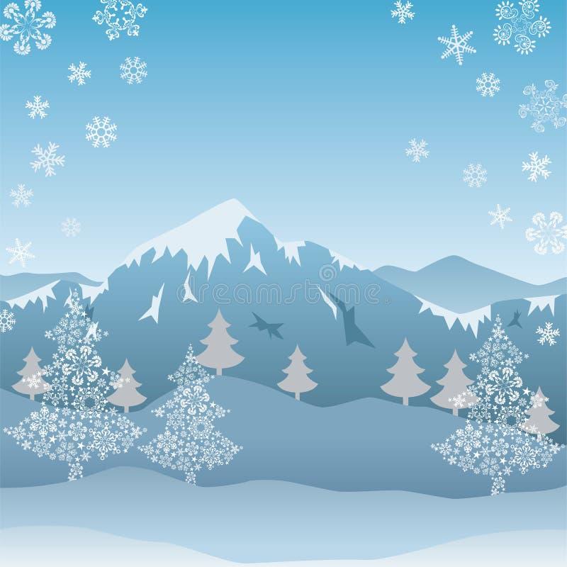 Montagne de neige illustration de vecteur
