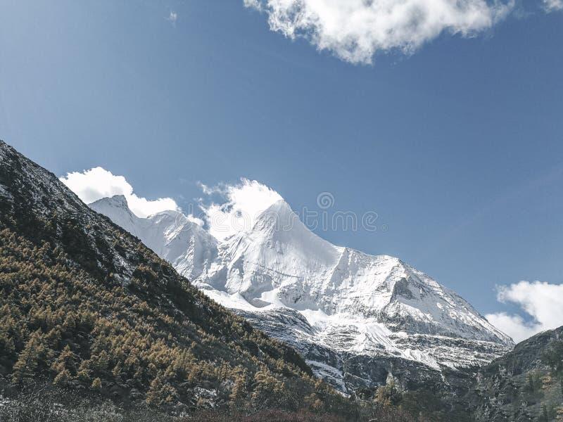Montagne de neige sur le plateau image libre de droits