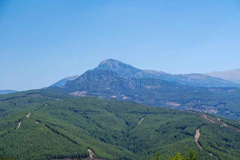 Montagne de Nif, emplacement de karabel, fethiye, mugla, dinde images libres de droits