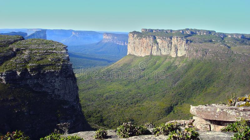 Montagne de Pai Inacio, Chapada Diamantina, Bahia, Brésil images libres de droits