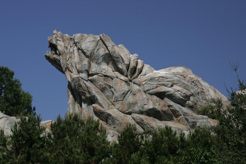 Montagne de parcs d'attractions photographie stock libre de droits