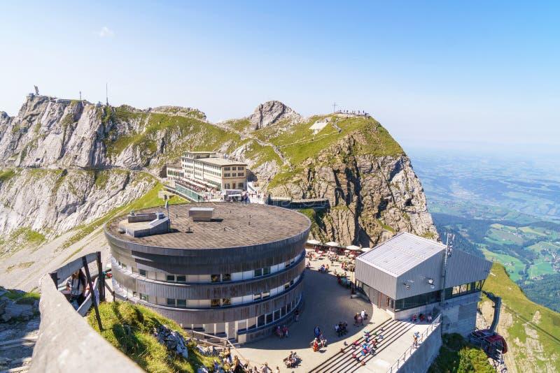 Montagne de Pilatus Kulm, Lucerne, Suisse photographie stock