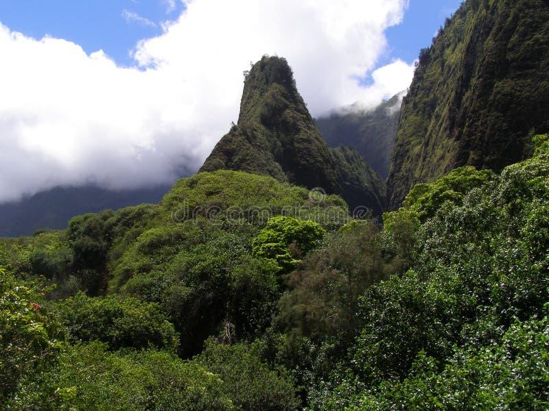 Montagne de pointeau d'Iao photos stock
