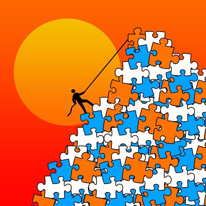 Montagne de puzzle illustration stock