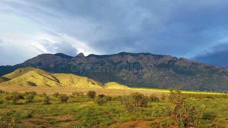 Montagne de Sandia photographie stock libre de droits