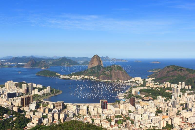 Montagne de Sugarloaf, baie de Guanabara, Rio de Janeiro, Brésil photos libres de droits